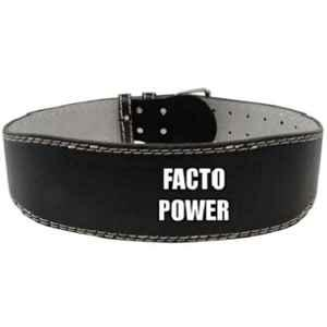 Facto Power 40 inch Leatherate Weight Lifting Gym Belt, FP_LTHR_G.BLT_L