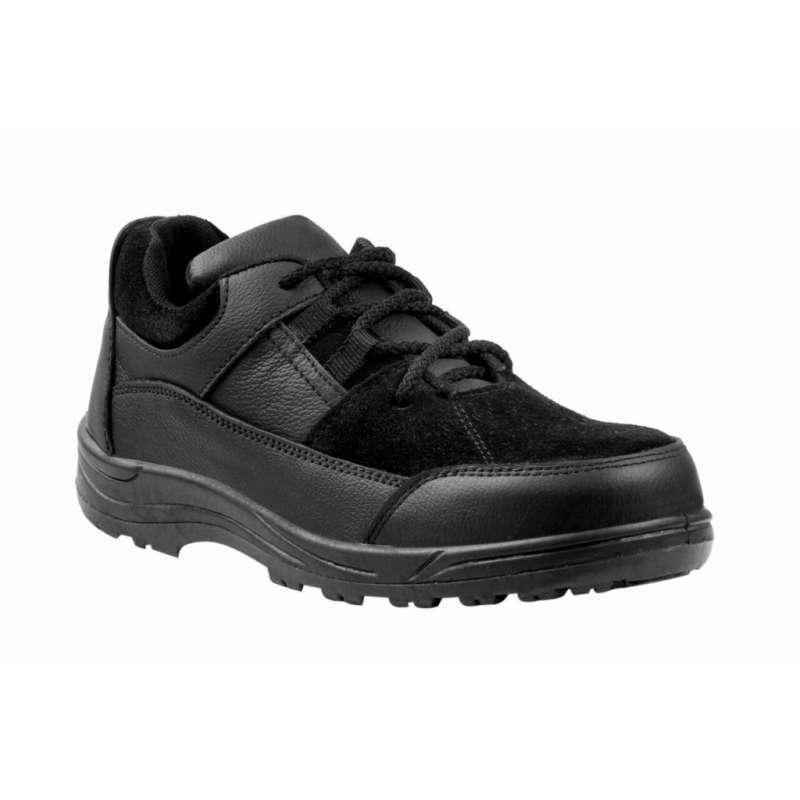 JK Steel JKPI009BK Steel Toe Black Safety Shoes, Size: 10