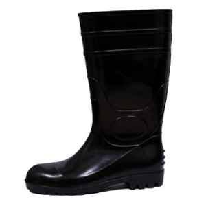 Neosafe Jumbo-14 PVC Steel Toe Black Gumboots, Size: 8