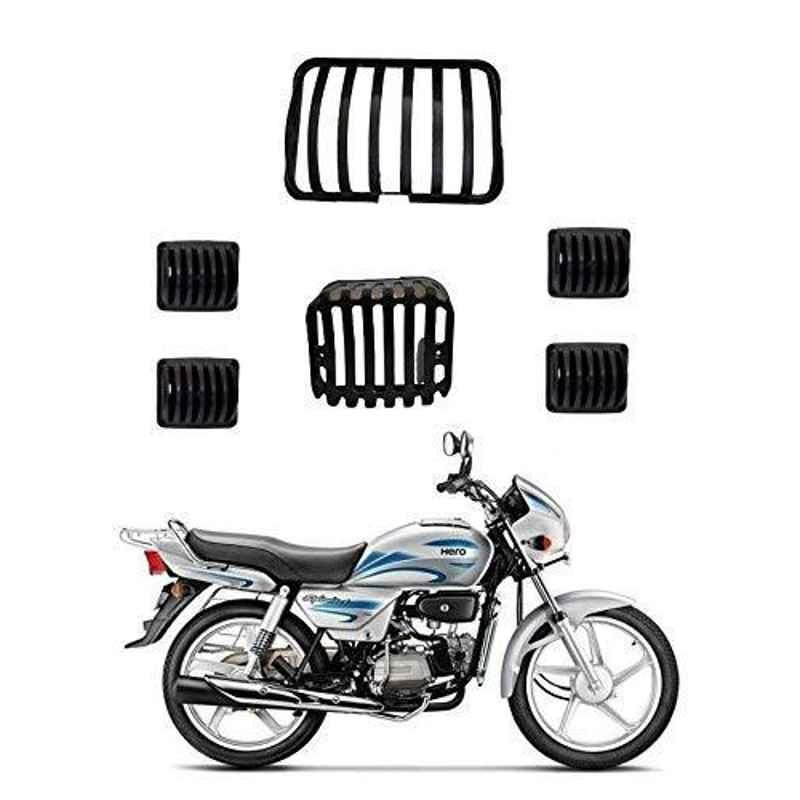 RA Accessories Headlight Grill Tail and Indicator Complete Grills Set (Pack of 6) of Hero Splendor