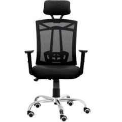 Da Urban Max Black High Back Revolving Office Chair with Head Rest
