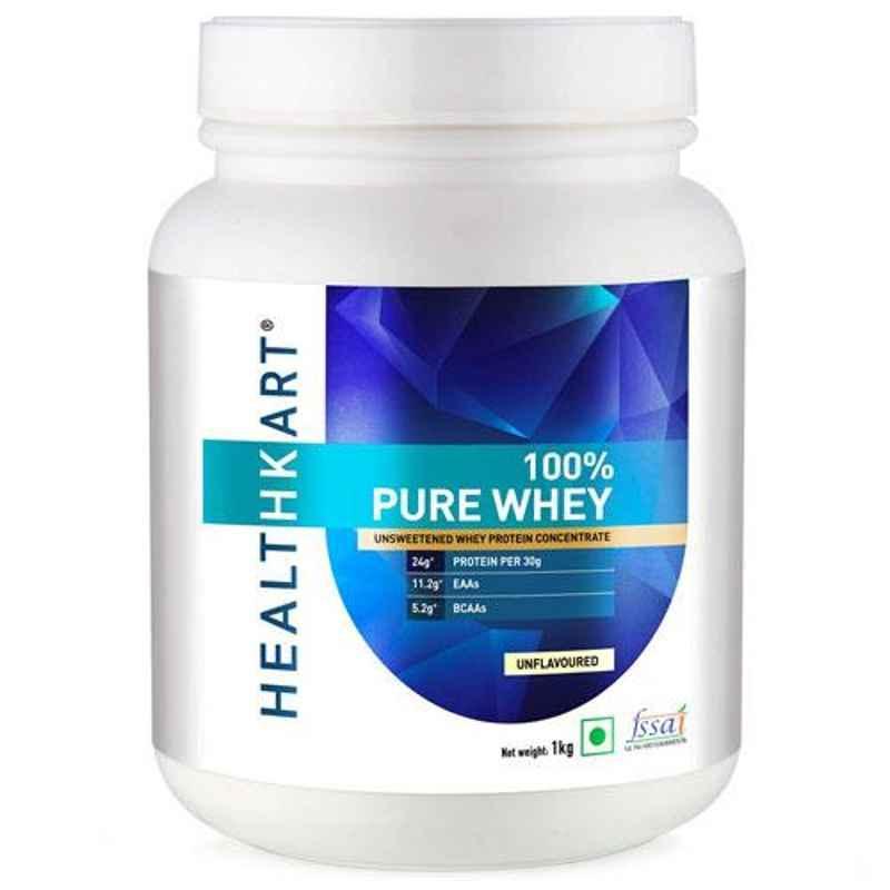 Healthkart 1kg Unflavored 100% Pure Whey Protein, HNUT10976-01