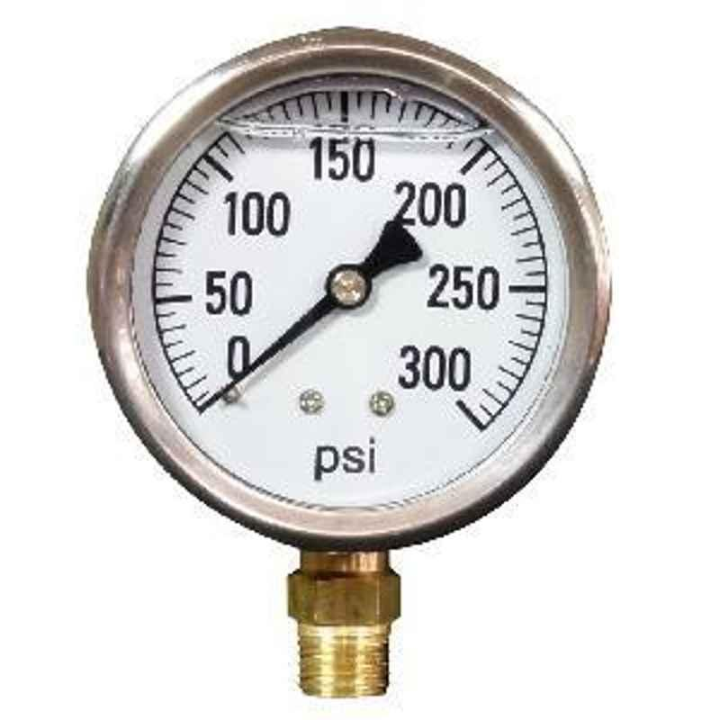 Janatics R1/8 0-10 Bar Dia 40 mm Pressure Gauge A2G02