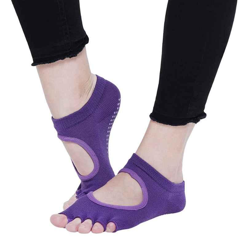 Strauss Purple Cotton Yoga Socks, ST-1456