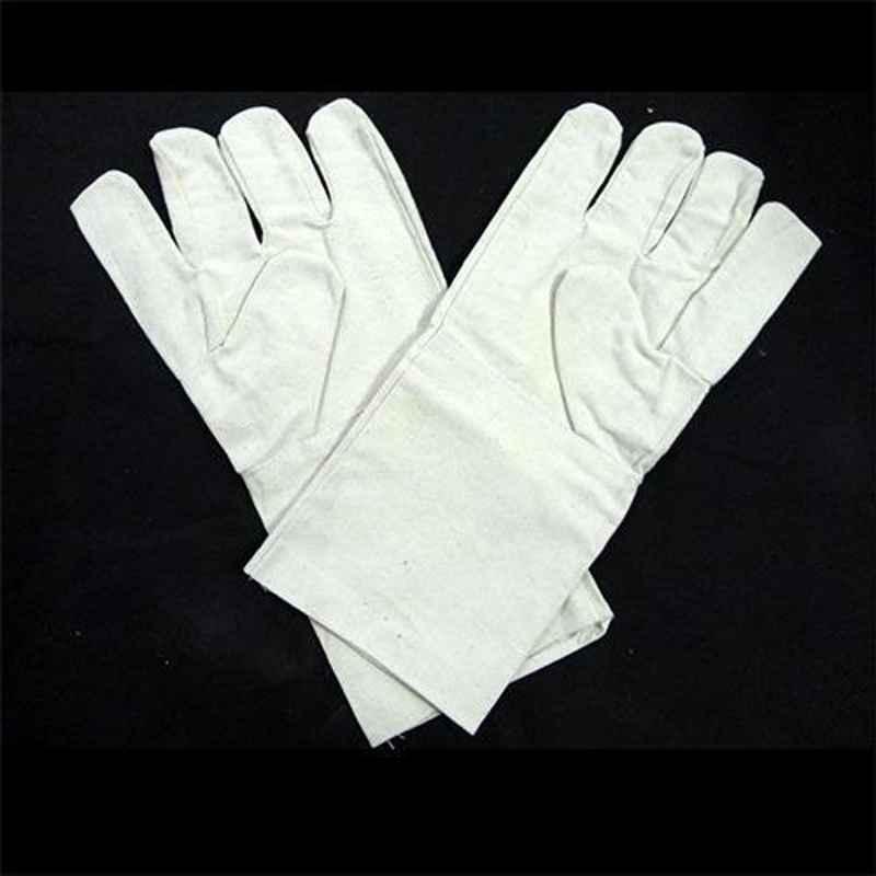 Siddhivinayak 14 inch Cotton Hand Gloves (Pack of 50)