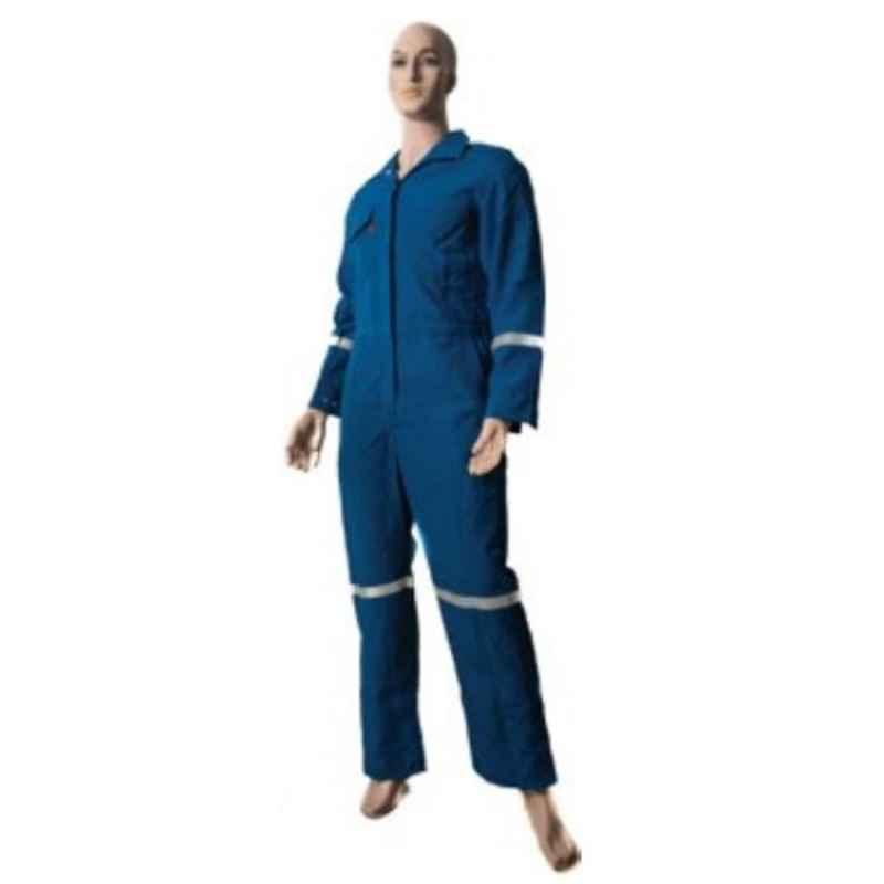 Techtion Flamesafe Nomex Thermpro Navy Blue 150 GSM Nomex IIIA Inherently FR Coverall Suit, Size: XXXXL