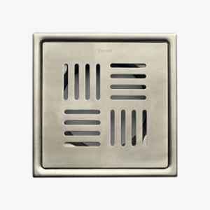 Kerovit 5x5 inch Silver Floor Drainer, KA640002