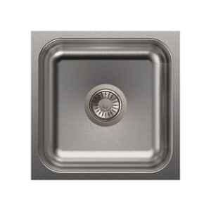 Carysil Elegance Single Bowl Stainless Steel Matt Finish Kitchen Sink, Size: 16x16x7 inch