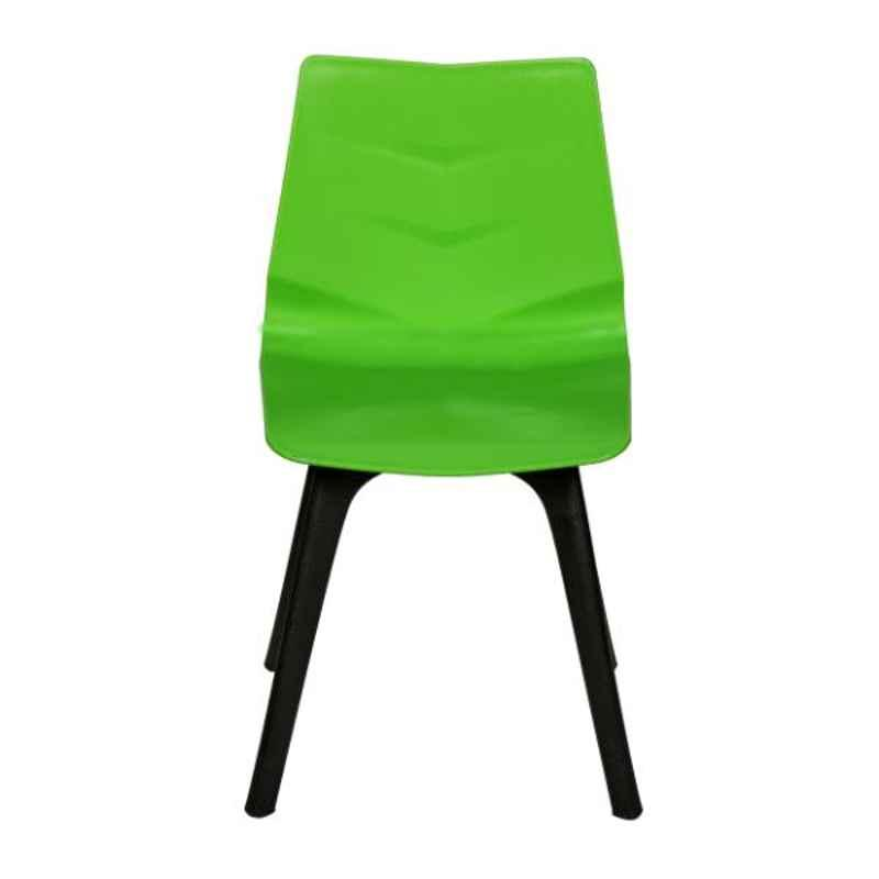 Regent Diamond Shell Plastic Green Chair