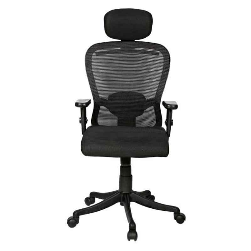 Regent Butterfly Net & Metal High Back Black Mesh Chair