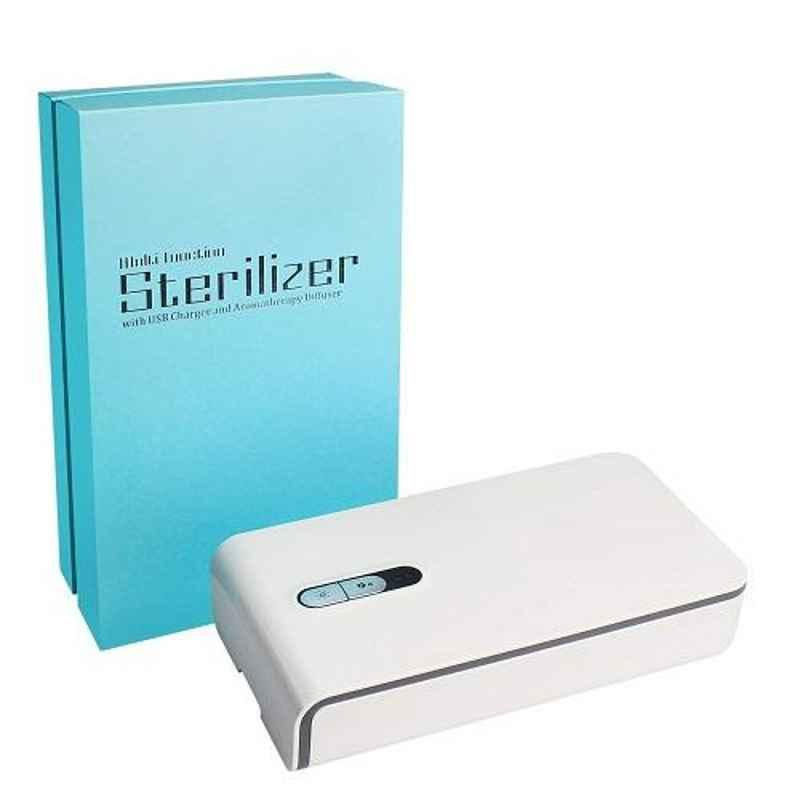 Mobitizer White Multi-Function UV Sterilizer with USB Charger & Aromatherapy Diffuser