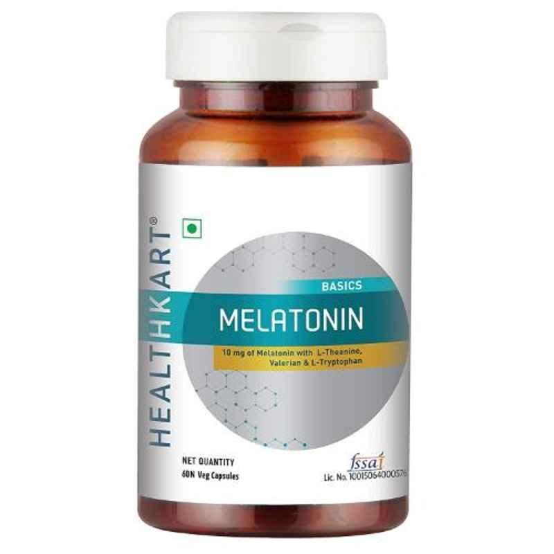 Healthkart 60 Pcs Melatonin Veg Capsules, HNUT14444-01