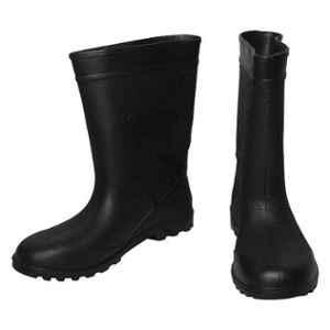 Safe Dot GB-03 11 inch PVC Rubber Toe Black Gumboots, Size: 9