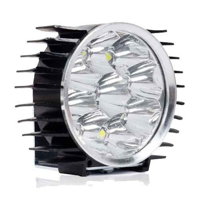 AllExtreme EX9LD01 9 LED 9W White Waterproof Fog Light with Heat Sink & Mounting Bracket
