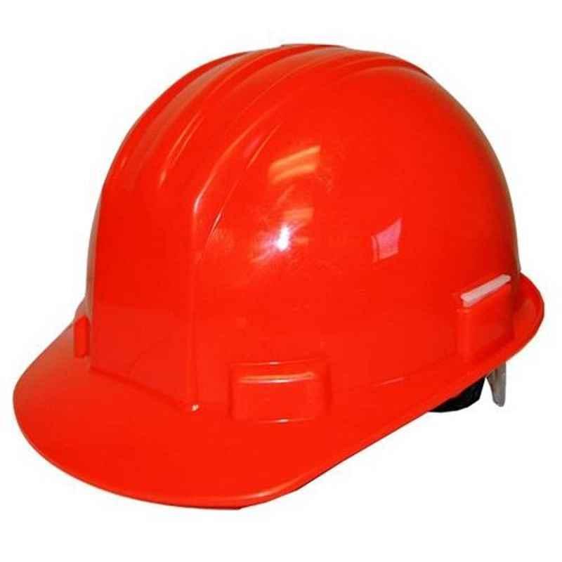 Bodytech Plastic Red Ratchet Safety Helmet