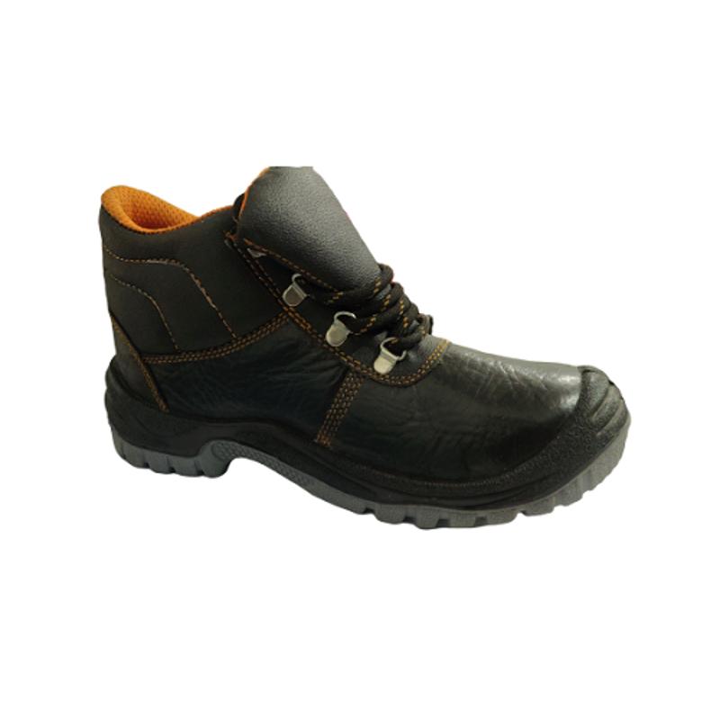 Hi-Safe ASG-34 Leather Steel Toe Black Safety Shoes, Size: 8