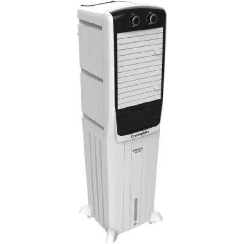Crompton Optimus Neo 52 130W 52L White & Black Tower Air Cooler
