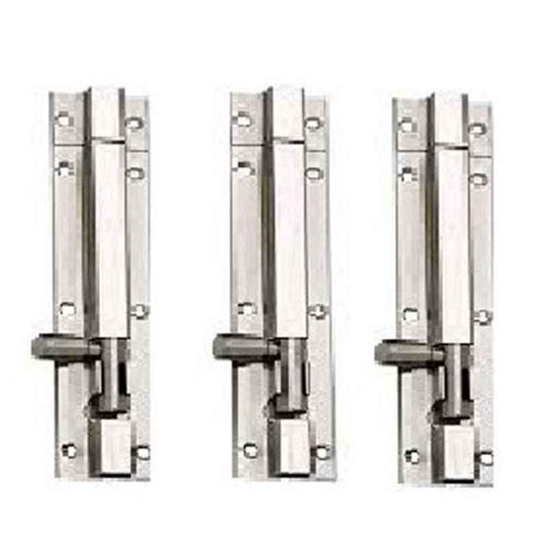 Nixnine 4 inch Stainless Steel Tower Bolt Security Door Latch Lock, SS_LTH_A-511_4IN_3PS (Pack of 3)