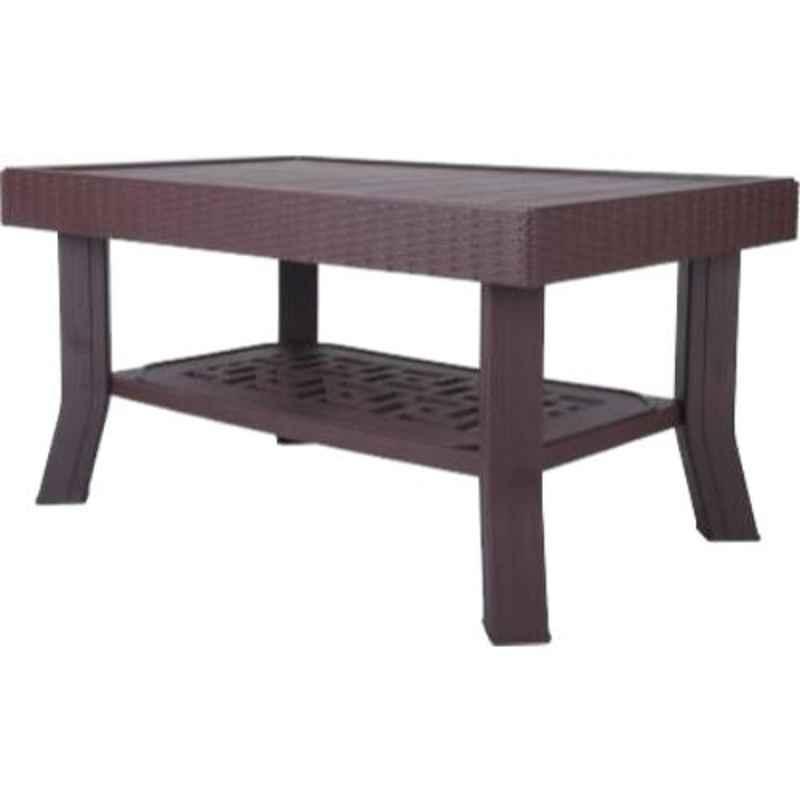 Supreme Vegas Globus Brown Plastic & Polypropylene Rectangle Outdoor Table
