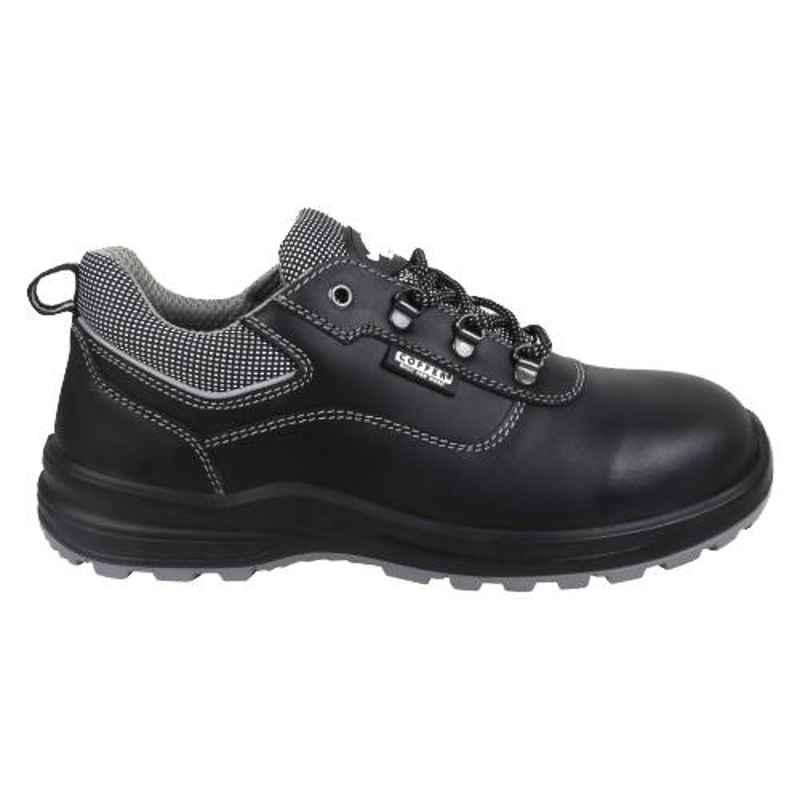 Coffer Safety M1022 Leather Steel Toe Black Safety Shoes, 82341, Size: 10