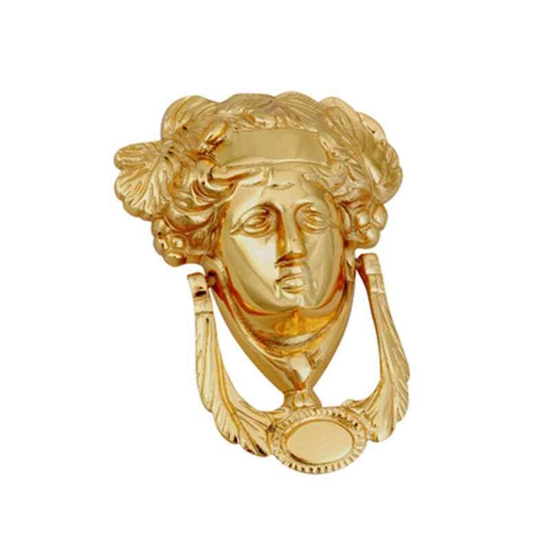 Smart Shophar 5 inch Brass Gold Dyna Door Knocker, SHA10DK-DYNA-GL05-P1