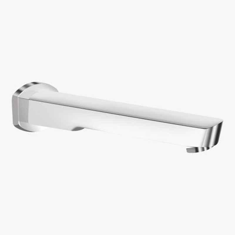 Kerovit Orion Silver Chrome Finish Bath Tub Spout with Flange, KB611016