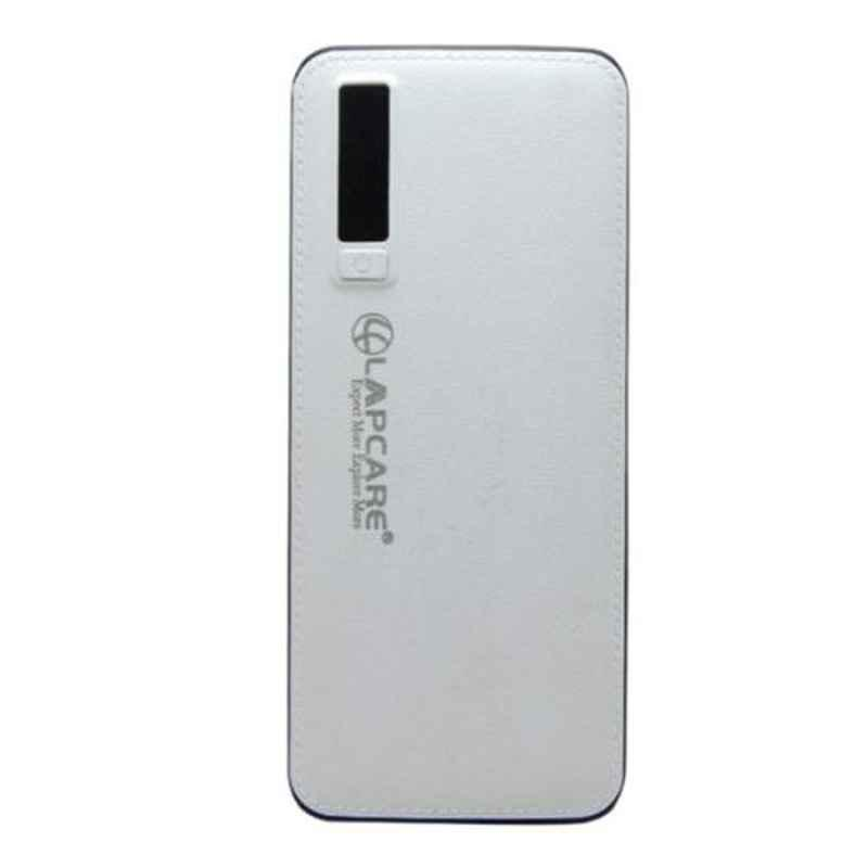 Lapcare 280g White 63x2.4cm Fast Charge Power Bank with Premium Leather grip, LOPBWH6380