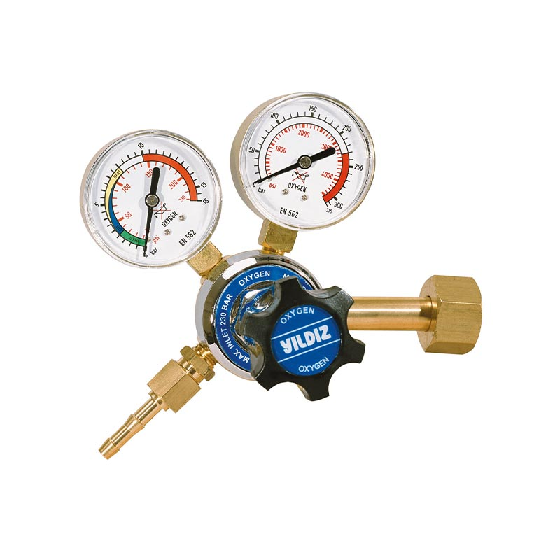 Yildiz Star 230-10 bar Oxygen Pressure Regulator, 5401
