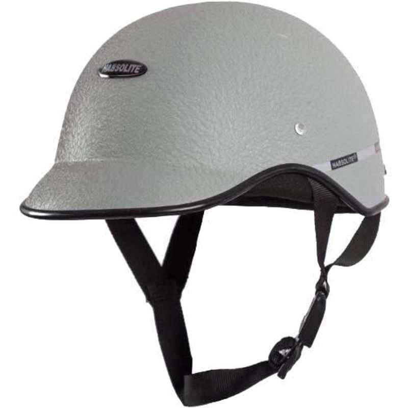Habsolite HB-MWG1 Mini Wrinkle Grey Safety Helmet With Quick Release Strap, Size: Free Size
