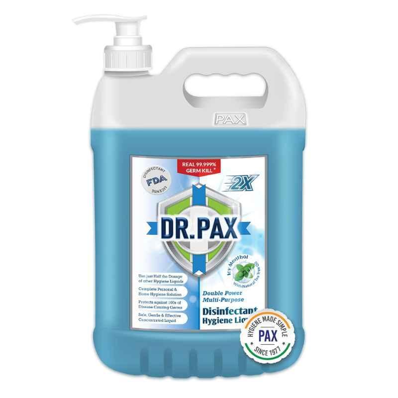 Dr Pax Double Power 5L Icy Menthol Multipurpose Disinfectant Hygiene Liquid with Pump