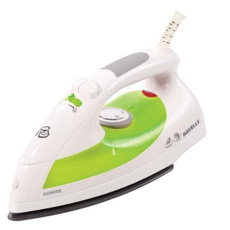 Havells Admire 1320W PTFE Non-Stick Coated Green & White Steam Iron, GHGSIAAG132