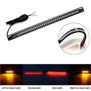 AllExtreme EX48LP1 8 inch 12VDC 48 SMD LED Flexible Strip Brake Tail Stop Turn Signal Light with 3M Adhesive