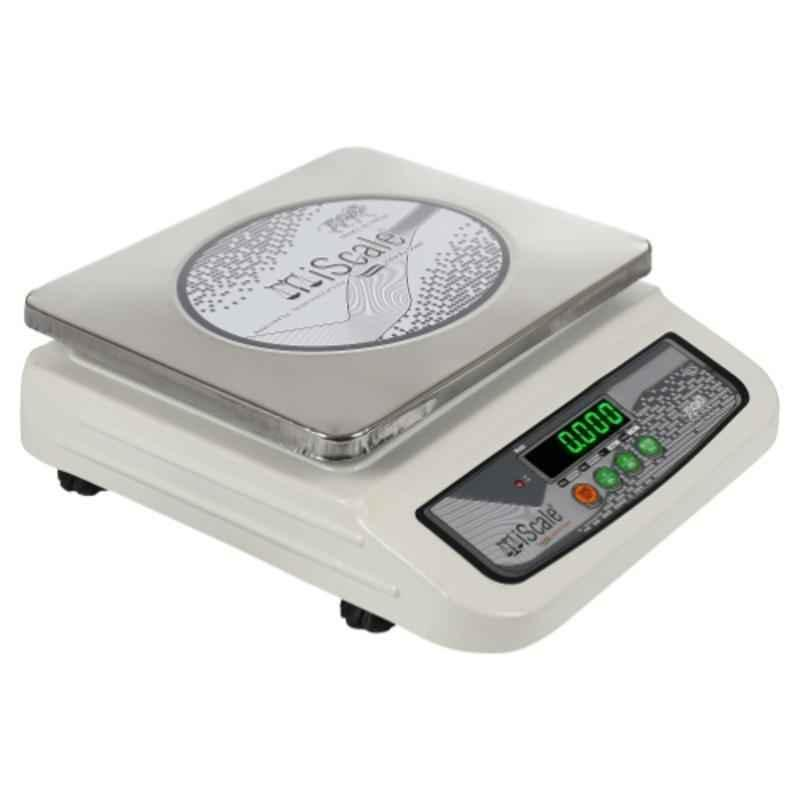 iScale i-06 30kg Capacity and 1g Accuracy Chargeable Weighing Scale with Front and Back Double Display and SS Pan