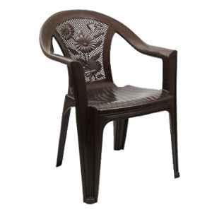 Italica Polypropylene Tan Brown Luxury Arm Chair, 9051-1