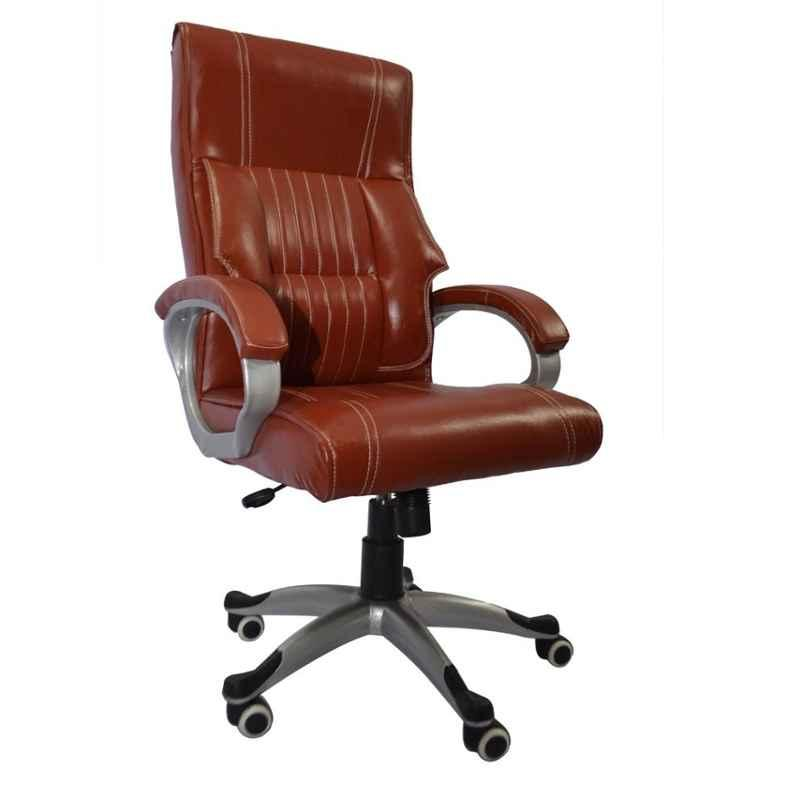 Caddy PU Leatherette Adjustable Study Chair with Back Support, DM137 (Pack of 2)