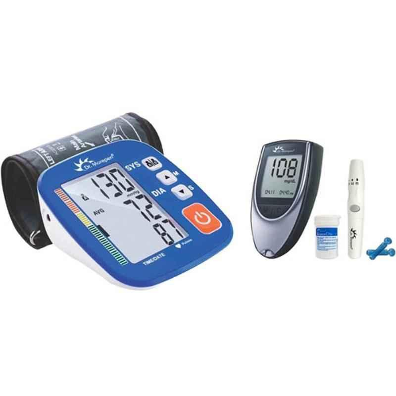 Dr. Morepen BP-02-XL Blood Pressure Monitor & BG-03 Gluco One Monitor Kit with 25 Test Strips Combo