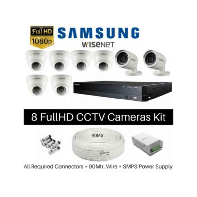 Samsung 8 Cameras 1080P with 8 Channel DVR Combo Kit