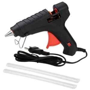 Hillgrove 40W Black Hot Electric Gum Glue Gun with 2 Pcs Hot Melt Glue Stick Set, HG0015