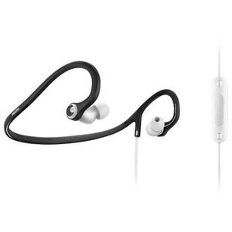 Philips White Neckband Sports Headphones With Mic SHQ4305WS