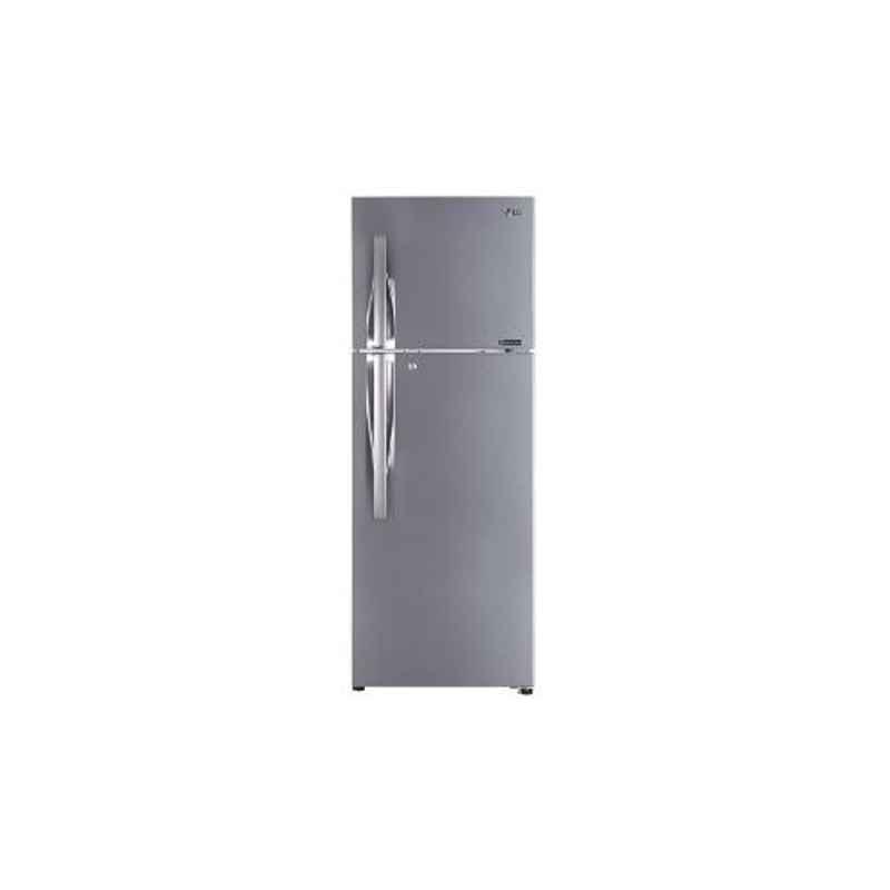 LG 335L 3 Star Shiny Steel Frost Free Inverter Refrigerator, GL-T372LPZU