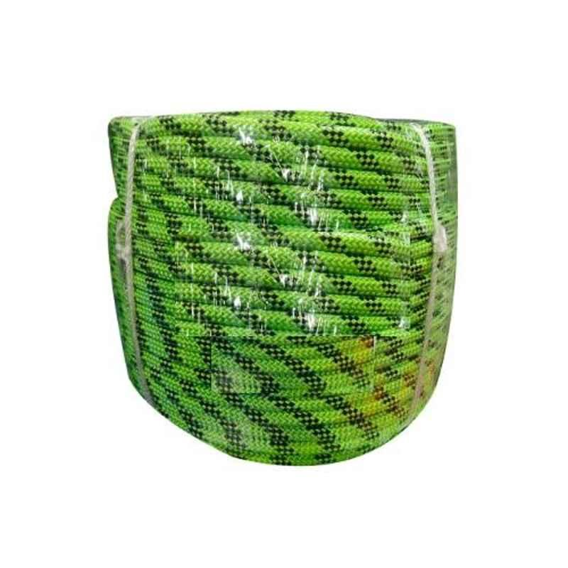 Grip 14mm 100m Green Braided Nylon Climbing Rope for Mountaineering & Rescue