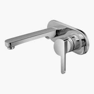 Kerovit Cross Silver Chrome Finish Single Lever Concealed Wall Mounted Basin Mixer Trims, KB1611023