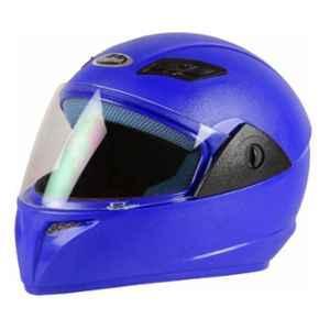 Stallion BLK Vento Plus Blue Full Face Bike Helmet, Size: M