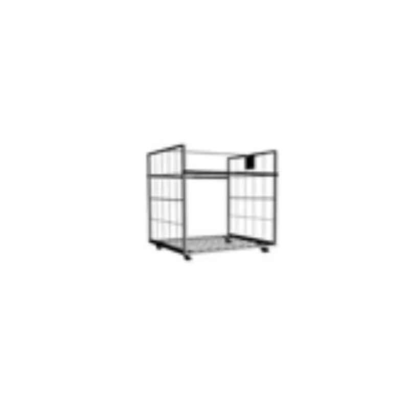 Suwas 1000x750x1700mm 600kg Steel Material Handling Cage Box Trolley, SU-MHCT-001