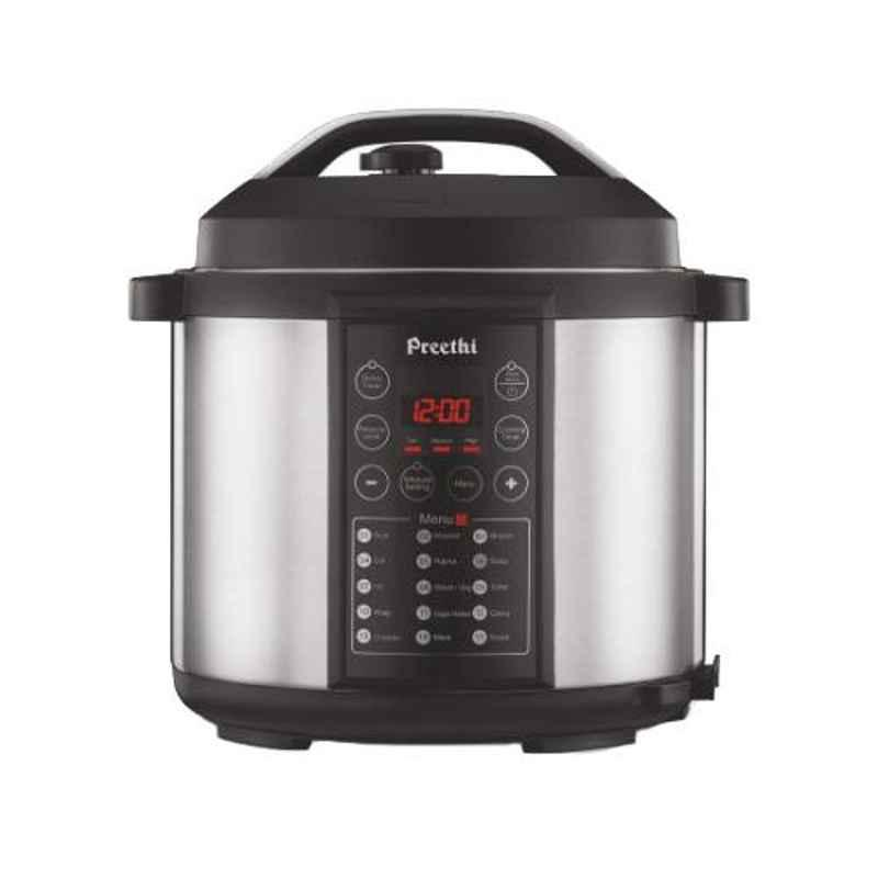 Preethi Touch Black 6L Electrical Pressure Cooker, EPC006