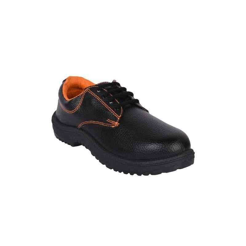 Nova Safe Safari Labour PVC Black & Orange Steel Toe Safety Shoes, Size: 8