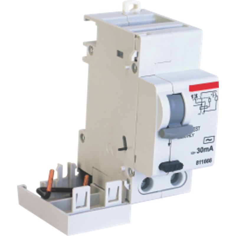 Indoasian Optipro 40A & 63A 2 Pole RCD Add On Block, 811669, Breaking Capacity: 10kA