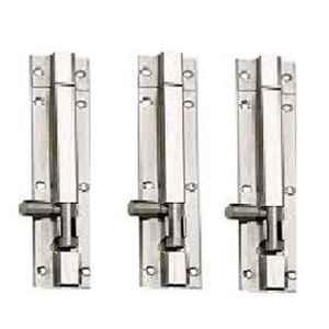Nixnine 8 inch Stainless Steel Tower Bolt Security Door Latch Lock, SS_LTH_A-511_8IN_3PS (Pack of 3)