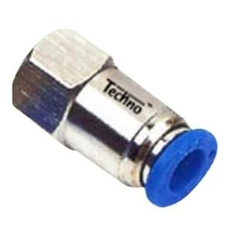 Techno 8-04' Thread Size 8 mm Female Connector PCF