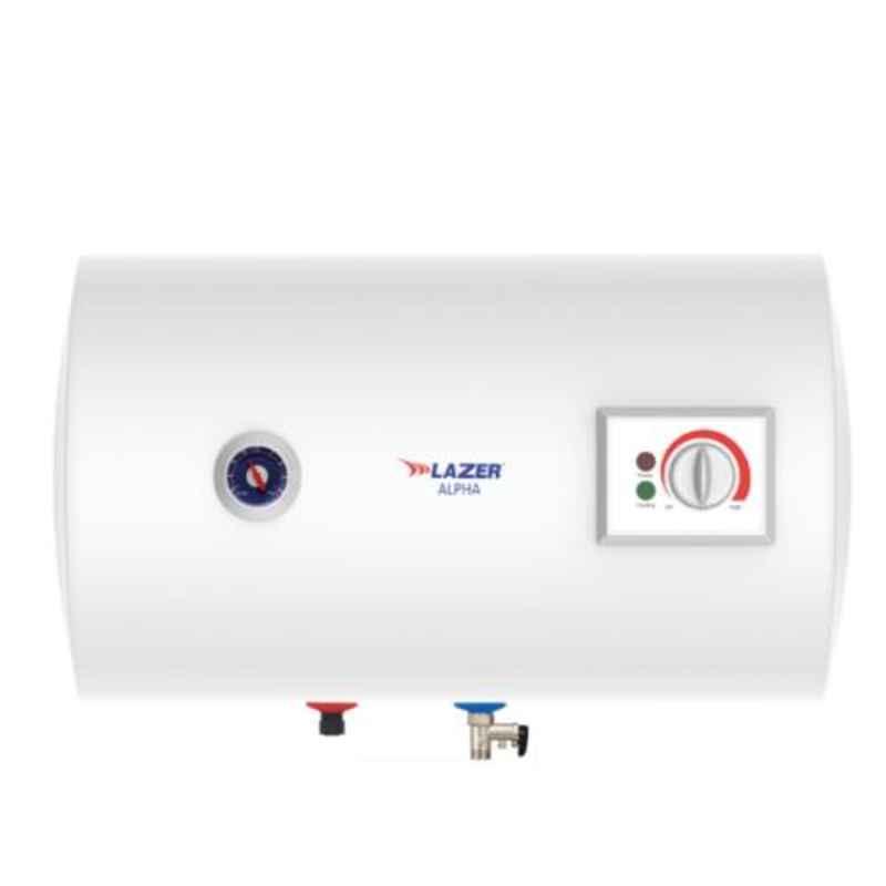 Lazer Alpha 25L White Horizontal Electric Storage Water Heater